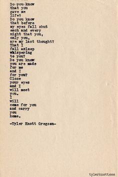 Typewriter Series #449 by Tyler Knott Gregson