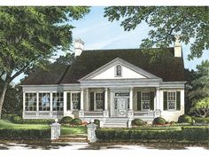 Eplans Greek Revival House Plan - The Shields Town House - 3353 Square Feet and 4 Bedrooms(s) from Eplans - House Plan Code HWEPL10028
