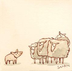 """""""Baa-ram-ewe! Baa-ram-ewe! To your breed, your fleece, your clan be true! Sheep be true! Baa-ram-ewe!"""""""