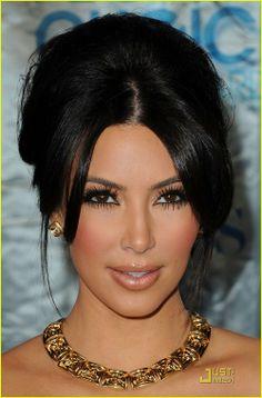 A Kim Kardashian Updo