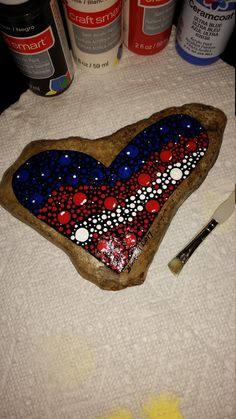 Hand Painted, Patriotic, Flag, Rock/Stone by NeatStuffYouNeed on Etsy