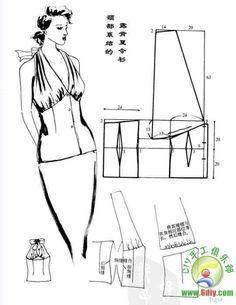 T Shirt Sewing Pattern, Corset Pattern, Pattern Drafting, Sewing Patterns Free, Clothing Patterns, Sewing Aprons, Sewing Clothes, Couture Sewing Techniques, Patron Vintage
