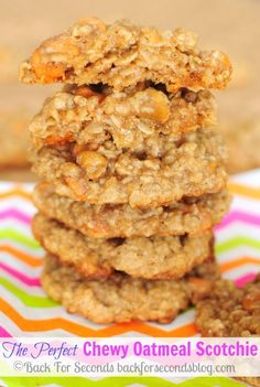 Learn How to Make The Perfect Chewy Oatmeal Scotchie! #butterscotch #oatmeal #cookies #dessert