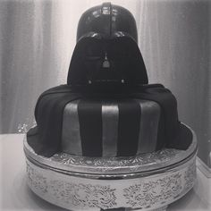 Darth Vader groom's cake at 2014 Disney's Fairy Tale Weddings Showcase