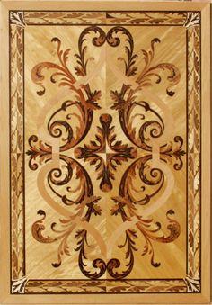 wood floor panels inlays hardwood medallions panels borders