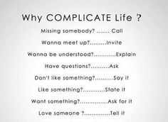 no need for complications