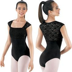 A pretty leotard that doesn`t show your entire back - hard to find this type of thing.