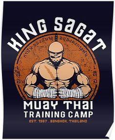 Street Fighter King Sagat Muay Thai Training Camp Men's T-Shirt by Pigboom - Cloud City 7 Sagat Street Fighter, Team 7, Martial Arts Gym, Boxing Videos, Arte Ninja, Muay Thai Training, Retro Video Games, Gym Shirts, Dojo