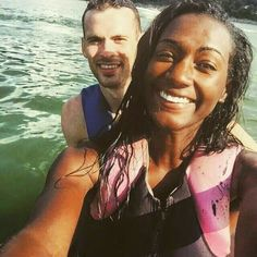 Cute and adventurous interracial couple #love #wmbw #bwwm