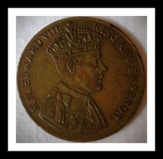 Great Britain Coronation medal, Edward VIII.  80 years ago, King Edward VIII, later the Duke of Windsor, abdicated the throne.  His reason was that he wanted to marry his mistress, a twice divorced American, which would have caused a constitutional crisis.  At that time the Church of England, of which British monarchs are head of, did not allow people to re-marry if their ex spouse was still alive.   For more British coins, visit AlbaCoins. com#britain #edwardviii #medals #monarchy