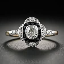 engagement rings with onyx and diamonds - Google Search