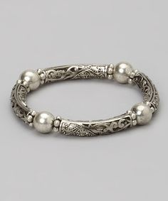 This Silver Tube Filigree Bracelet is so simple in its design. just string some hollow tubes with bright silver metal spacers. Silver Jewellery Indian, Silver Bangles, Sterling Silver Jewelry, Gold Jewelry, Beaded Jewelry, Fine Jewelry, Silver Ring, Silver Dress, Braided Bracelets