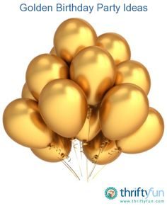 This is a guide about golden birthday party ideas. Golden birthdays only come around once in your lifetime.