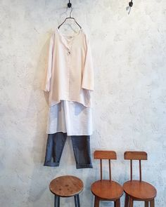 Outfit  #outfit #lighttop #layer #withpants #saturday #weekend #spring #pinkwhitegrey #comfy #style #design #spring #toolz #clothing #shop #melbourne #collingwood #メルボルン #春服