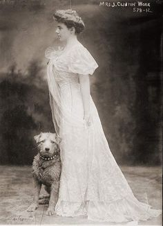 Clinton Work, with dog, Dufront Vintage Pictures, Old Pictures, Time Pictures, Me And My Dog, Vintage Dog, Retro Vintage, Dog Poster, Wire Fox Terrier, Airedale Terrier