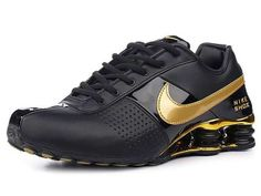 timeless design dea59 b36c0 Nike Shox,Nike Shox Sale,Cheap Nike Shox Mens Nike Shox Deliver Shoes black  golden - Designed using a mix of leather-based and synthetic materials that  are ...