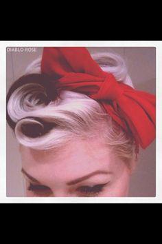 Pinup hair - Bar Uniform Ideas