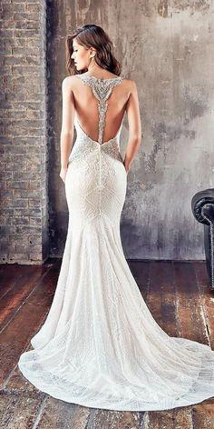 Stunning Trend: Tattoo Effect Wedding Dresses ❤ See more: http://www.weddingforward.com/tattoo-effect-wedding-dresses/ #weddings