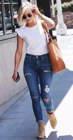 jeans camiseta blanca