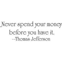 Design on Style Thomas Jefferson 'Money' Vinyl Wall Art Quote