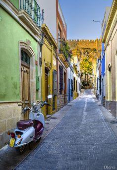 """Calle del Barrio de la Almedina: Exposición """"Almería, una mirada al centro"""" by Domingo Leiva,"""