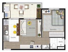1 dormitório 38,50m² - Zoom Paulista