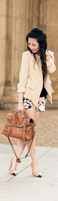 Spring Fashion.  The shorts are too short for my personal taste (and comfort), but I think this is really cute.