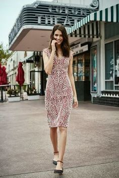 Loving the pattern on this body con dress from ShopStyle