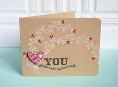 You Make My Heart Smile Card by Danielle Flanders for Papertrey Ink (November 2012)