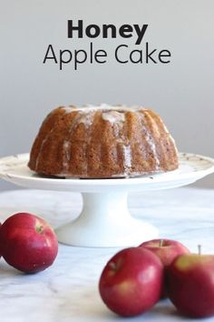 Fill your home with the aromas of fall with this Honey Apple Cake recipe that will make your taste buds smile. It's so easy to whip right up, and you'll love the simple flavors in this bread-like dessert.
