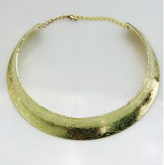 Floral Etched Gold Choker Necklace