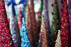 glitter trees!