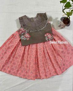 Girls Frock Design, Baby Dress Design, Kids Frocks Design, Baby Frocks Designs, Baby Girl Frocks, Baby Girl Party Dresses, Frocks For Girls, Toddler Girl Dresses, Kids Dress Wear