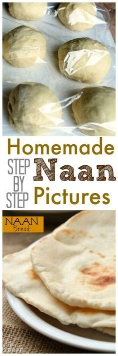 Making your own Naan isn't as complicated as you think. This How to make Naan Br. - Making your own Naan isn't as complicated as you think. This How to make Naan Bread Recipe with s - Make Naan Bread, How To Make Naan, Recipes With Naan Bread, Food To Make, Flat Bread, Naan Bread Machine Recipe, How To Bake Bread, Naan Bread Recipe No Yeast, Homemade Naan Bread