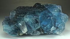 Blue Fluorite. This and more rare mineral specimens for sale on CuratorsEye.com