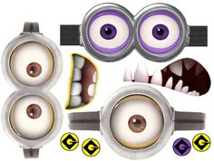 See 8 Best Images of Purple Minion Printables. Evil Minion Eyes Printable Purple Minion Printable Eyes and Mouth Minion Eyes Template Minion Cupcake Toppers Printable Free Purple Minion Eyes Printable Minion Party, Minion Theme, Despicable Me Party, Minion Movie, Minions Despicable Me, Minion Birthday, My Minion, Minions 2014, Minion Goggles