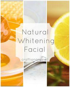 Homemade whitening facial (Natural remedy) - Craftionary