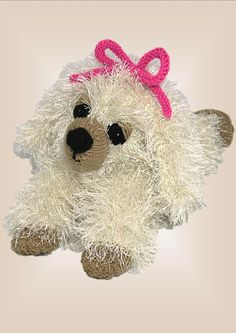 Princess Puppy - a cute knitted puppy for a special gift!
