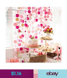$1.23 - Glitter Paper Birthday Party Hanging Bunting Banner Flag Baby Shower Party Decor #ebay #Home & Garden