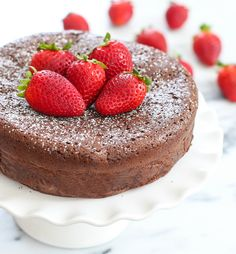 3 Ingredient Flourless Chocolate Cake | Kirbie's Cravings | A San Diego food & travel blog