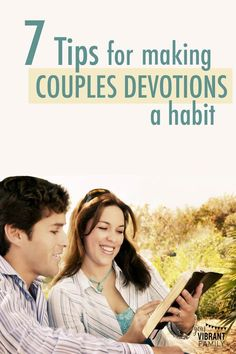 Wondering how it's possible to have regular couples devotions with your busy schedule? Couples Bible study is a fantastic way to build a strong marriage, and I want to share with you what we've learned so that you and your spouse can enjoy regular couples devotions too! | devotions | devotions for couples | couples devotionals | couples bible study | couples bible study plan | marriage devotional || Vibrant Christian Living  #biblestudy #couples