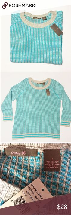 NWT Heather B sweater Brand new with tags size medium! Very cute and comfy! Heather B Sweaters Crew & Scoop Necks