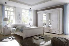 Schlafzimmer weiß honig - Kiefer Möbel Massivholz - Frankenmöbel ...