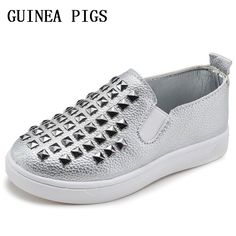Cool 2016 New Designer Pink Gold Silver Eur21-36 Rivets Kids Sneaker High Quality Children Shoes Girls Boys Shoes. - $ - Buy it Now!