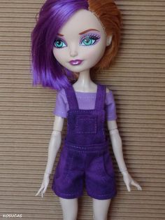 Overall and t-shirt for Ever After High dolls. por Kosucas en Etsy