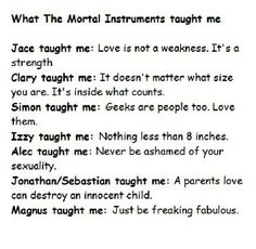Just be freakin fabulous lol But no. Really. TMI taught me so much! #TMIMovie