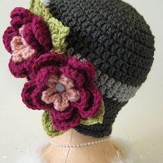 Crochet Vintage 1920s Style Cloche Hat