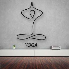 Items similar to Vinyl Decal Yoga Meditation Zen Bedroom Abstract Decor Wall Stickers on Etsy Meditation Rooms, Relaxation Meditation, Relaxing Yoga, Daily Meditation, Meditation Images, Meditation Corner, Buddha Meditation, Yoga Studio Design, Yoga Room Design