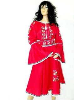 Akord shop - cotton dress, the and sleeves, made on fabric, traditional embroidery. Cotton Dresses, Dresses With Sleeves, Long Sleeve, Fabric, Shopping, Women, Fashion, Tejido, Moda
