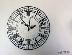 Peter Pan Big Ben Wall Clock by SolPixieDust on Etsy